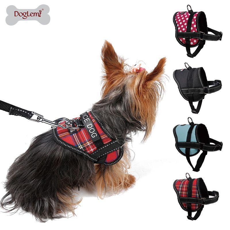 Harnais de poitrine de chien professionnel harnais réfléchissant chiot chien service gilet harnais avec slogan pet gilet harnais pour chien