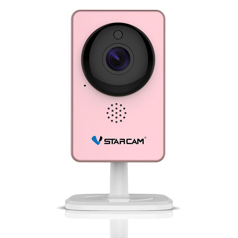 VStarcam WiFi Mini Camera Panoramic Infrared Night Vision Wireless Motion Alarm Video Monitor IP Camera C60S Pink