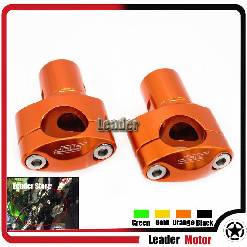 Motorcycle Accessories CNC Aluminum Universal 28mm Handle bar Clamp Handlebar Riser adjustment kit Orange
