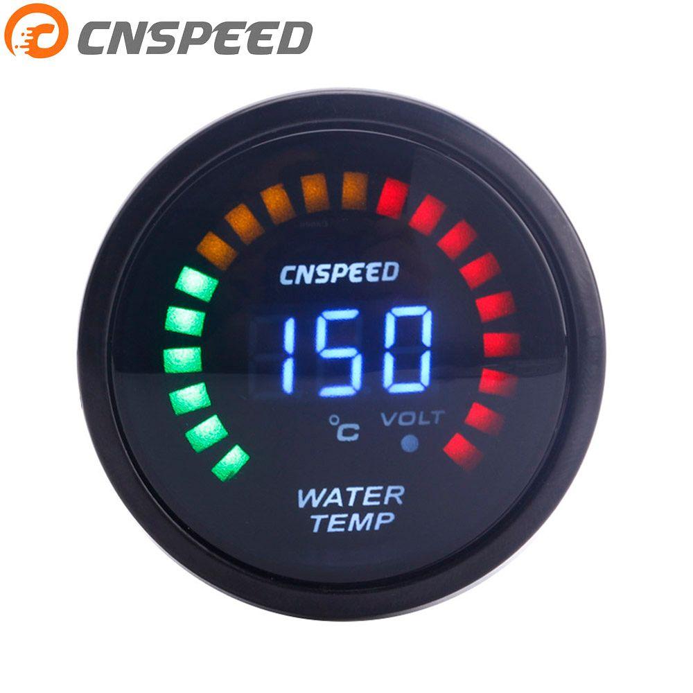 CNSPEED 52mm 2 Inch LCD Digital Water Temp Gauge With Sensor water Temperature gauge car meter  YC101272