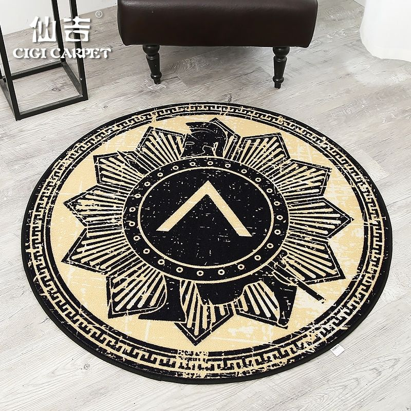 CIGI European And American Style Personality Round Carpet Living Room Table Mat Bedroom Study Blanket Creative Carpet Anti Skid