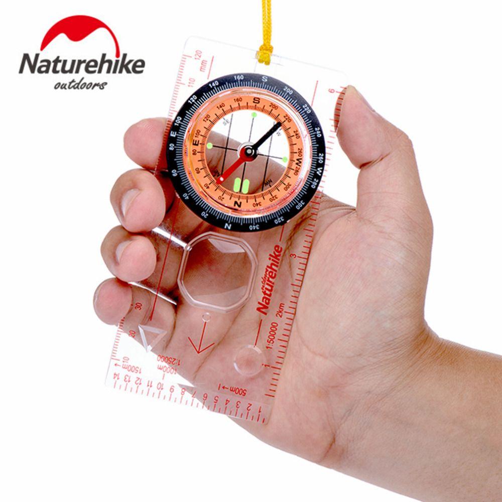 Naturehike transparent compass richtung guide orientierungslauf scouts armee überleben camping outdoor heißer verkauf