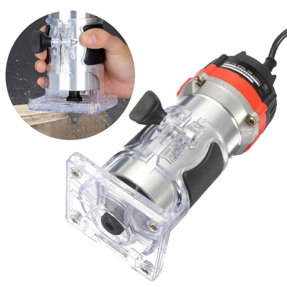 220V 530W Electric Hand Trimmer Wood Trim Router 1/4'' Wood Router Trimmer Router Tools for Woodworking Engraving Drilling Tools