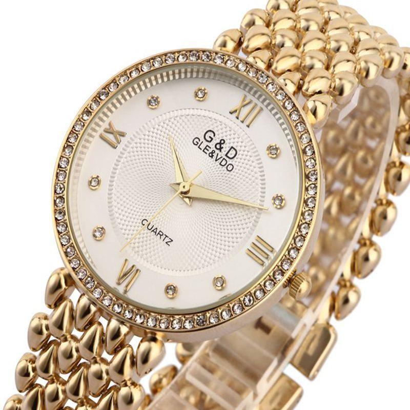 G & D Для женщин Наручные часы кварцевые часы женские наручные часы платье Relogio feminino Saat подарки лучший бренд класса люкс Reloj Mujer серебряный