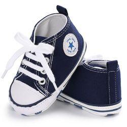2018 primavera otoño niño lona Zapatos de bebé Niñas Niños Primeros pasos bebe bebé sneakerslace bebé recién nacido mocasines Patucos