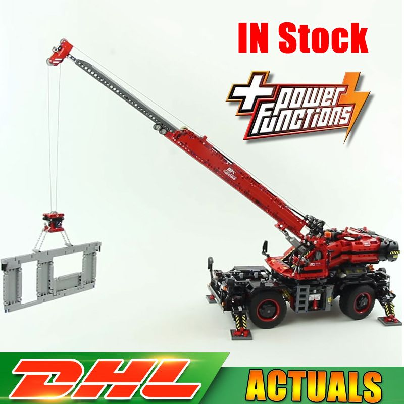 2018 Lepin 20085 Technic Rough Terrain Crane Compatible Legoingly 42082 Building Blocks Bricks Educational Toys With Battery Box