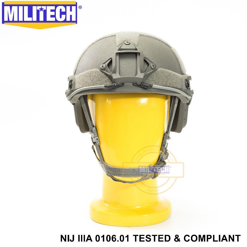 ISO Zertifiziert MILITECH FG OCC Zifferblatt NIJ Level IIIA 3A SCHNELLE High Cut Kugelsichere Aramid Ballistischen Helm Mit 5 Jahre garantie