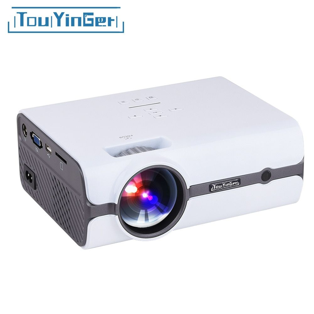 Touyinger T3 Mini LED Projector 1280*800 TV 1080P video ( Android 7.0 version support 4K wifi ) HDMI LCD Home Theater Beamer USB