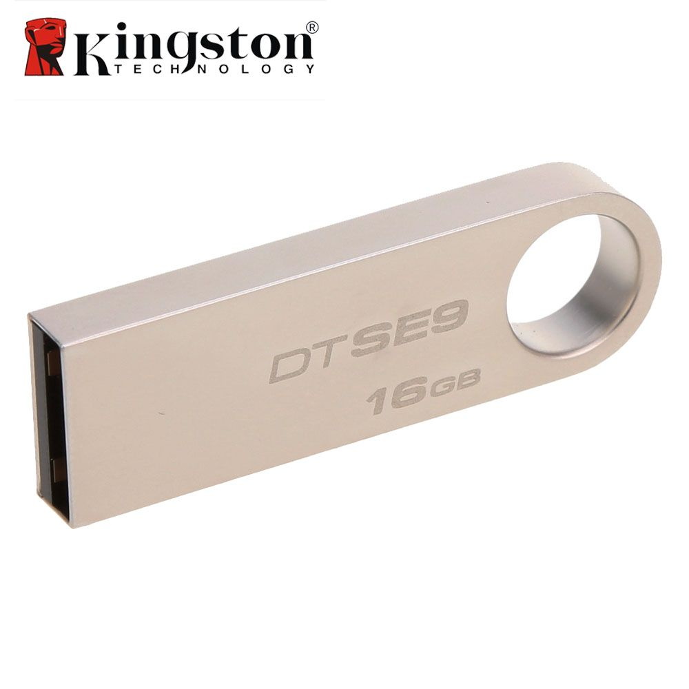Kingston 2 pcs/lot 8g 16g 32g USB Flash Drive Haute Vitesse Données USB 2.0 DTSE9 USB Bâton clé USB En Métal USB Flash U Disque Pen Drive