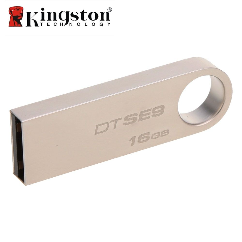 Kingston 2 pcs/lot 8g 16g 32g USB Flash Drive Haute Vitesse Données USB 2.0 DTSE9 USB Bâton clé USB En Métal USB Flash U Disque Pen Drive