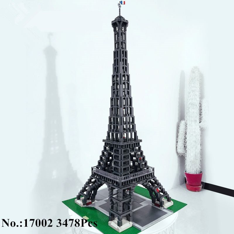 H&HXY IN STOCK Free Shipping 17002 3478pcs The Eiffel Tower Model Building Kits Brick lepin Toys Compatible 10181 Christmas Gift