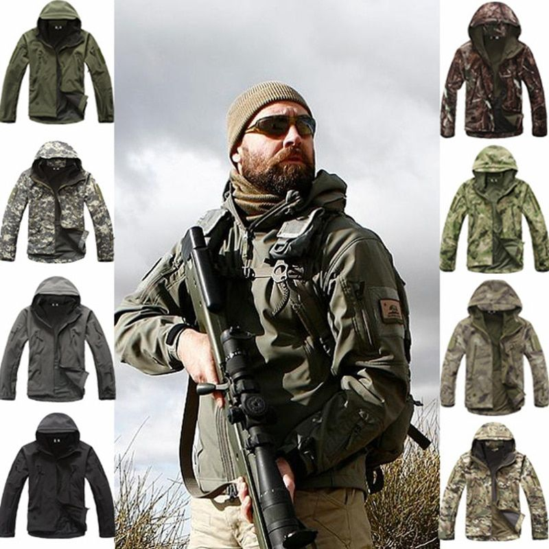 TAD V 4.0 Lurker Shark Skin Softshell Jacket Men Tactical Jacket Waterproof Windproof Hunting Military Pants Winter Clothes