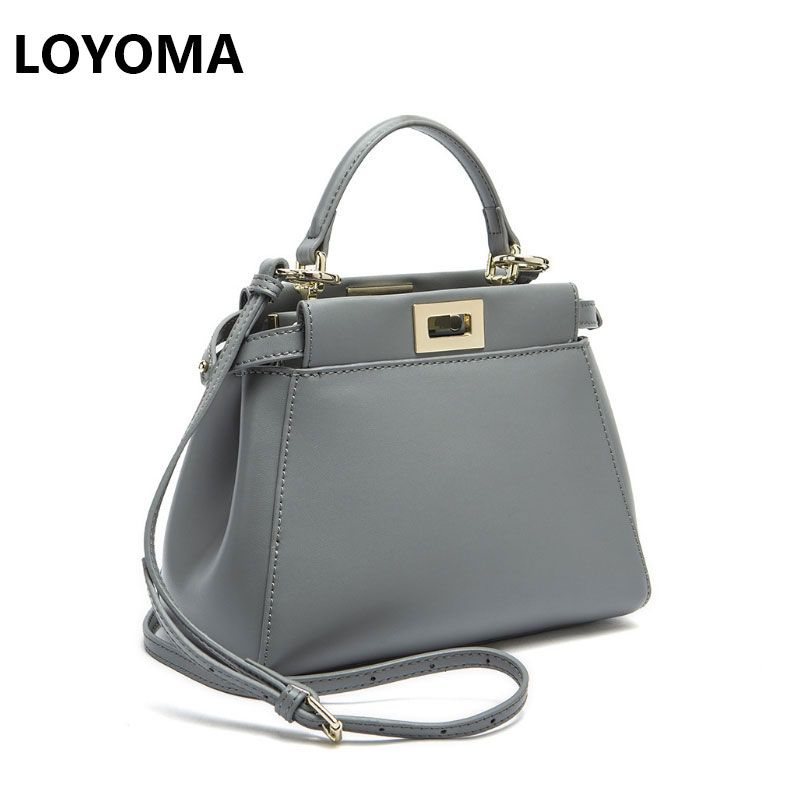 Women Messenger Bags Peekaboo Bag Handbags 2017 Luxury Designer Split Leather High Quality Purse Shoulder Bag <font><b>Crossbody</b></font> Tote