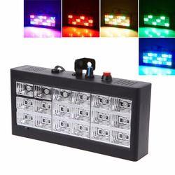 Hngchoige 18 LED RGB/Putih Lampu Proyektor Lampu Strobo untuk Dj Club Disco KTV Tahap Acara Pesta Kami/ uni Eropa Plug 0-25 W