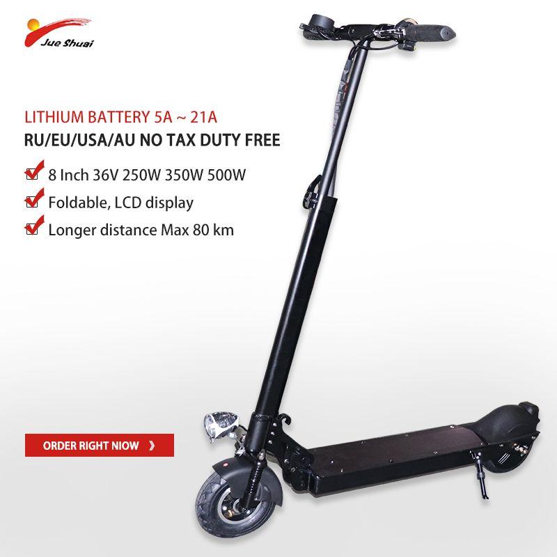 JS 8 zoll 36 V 250 W-500 W Elektrische Roller 80 KM 5A-21A Patinete Electrico Adulto Faltbare kick escooter skateboard hoverboard bike