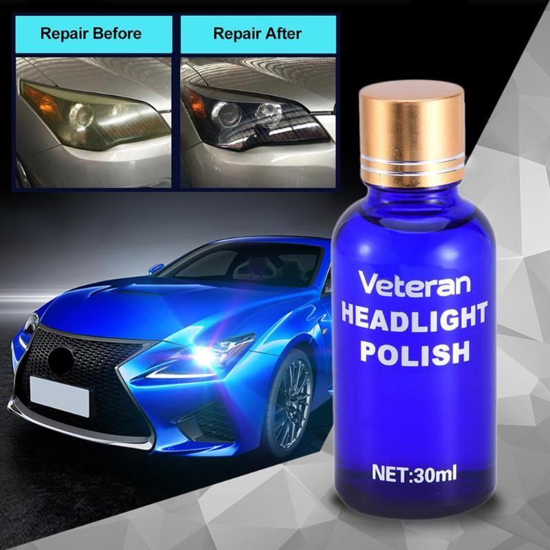 Car Headlight Restoration Kit Auto Lamp Lenses Repair Liquid Repair Polish Auto Detailing Glasscoat Car Liquid Ceramic Coat 30ml