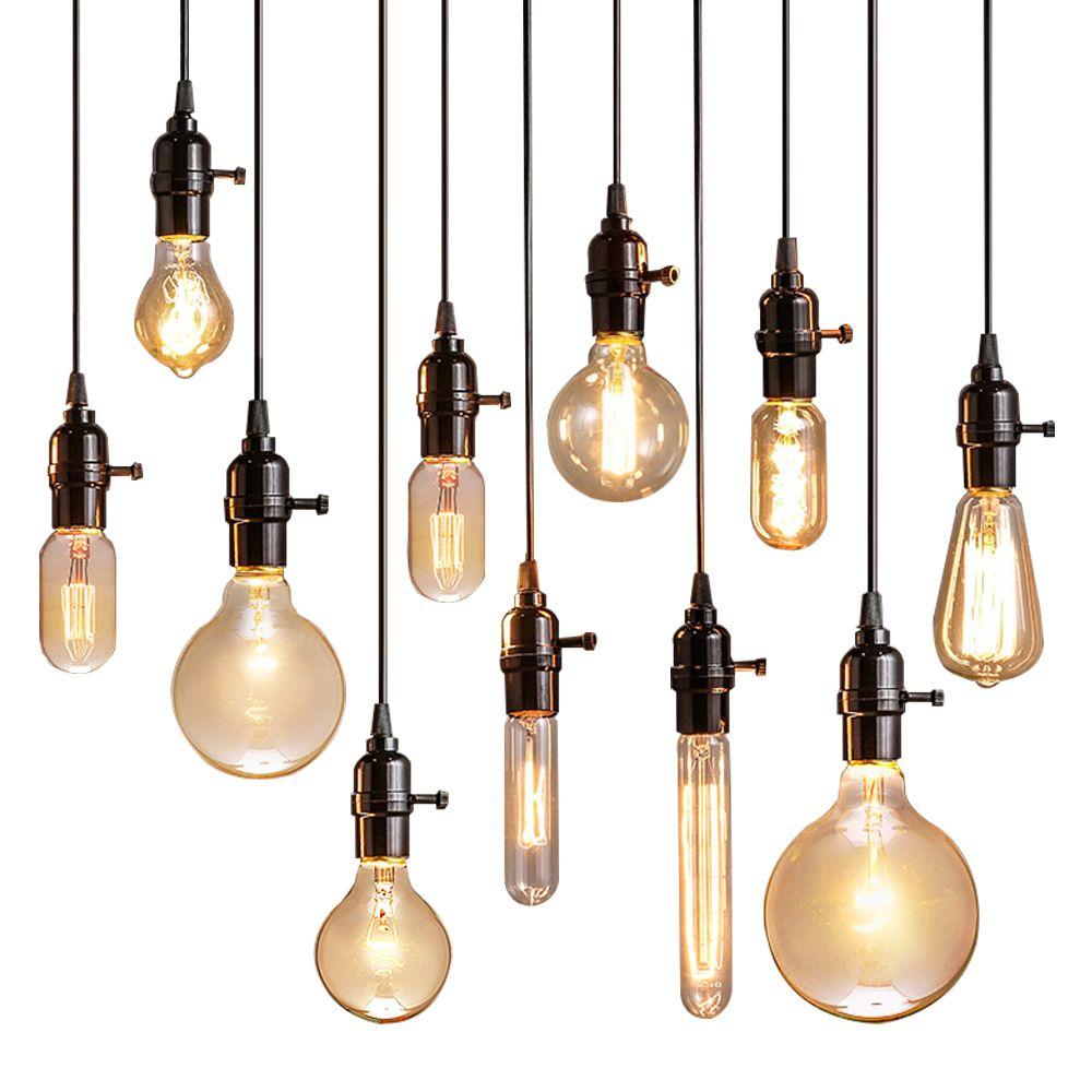 Vintage Pendant Lights Luminaire Lamp Loft E27 Hanglamp Lustre Lamparas Colgantes For Restaurant Kitchen Home Lighting Abajur