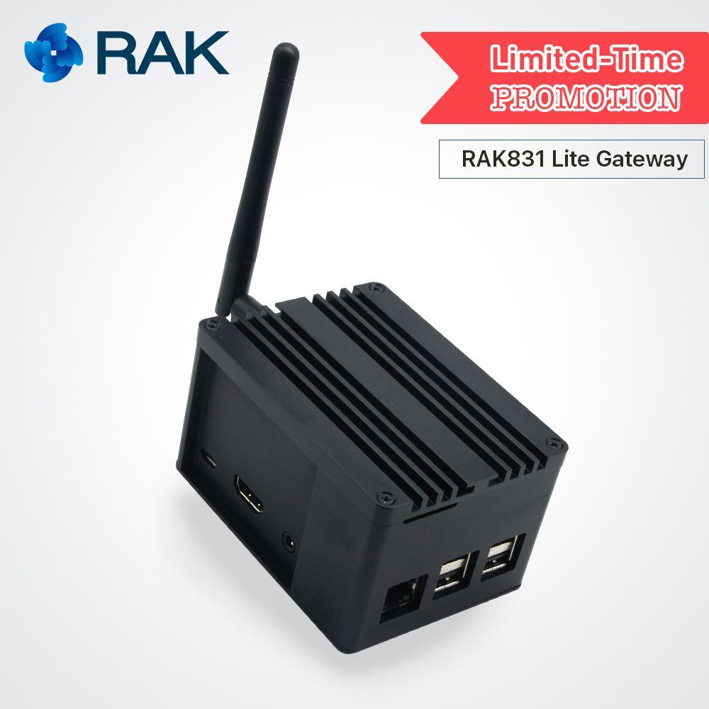 RAK831 Lite Gateway Developer Kit Raspberry Pi3 SX1301 LoRaWan Gateway Module with GPS Lora Antenna for Demonstration PoC Q110