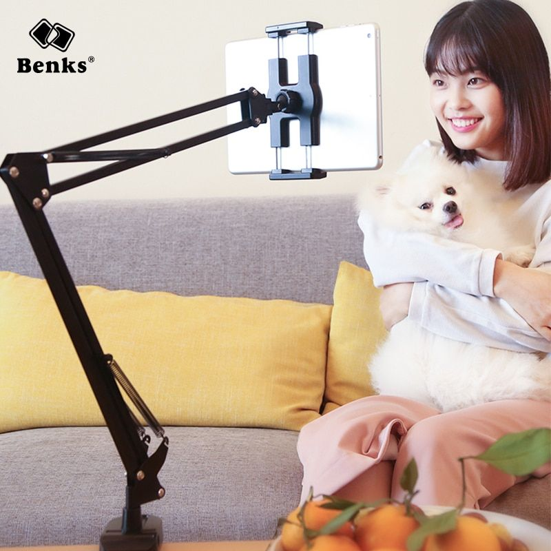 Benks 360 Rotation Flexible Universal Mobile Phone Holder for Webcast Bed Desk Long Arm Lazy Mount For iPhone X For Samsung iPad