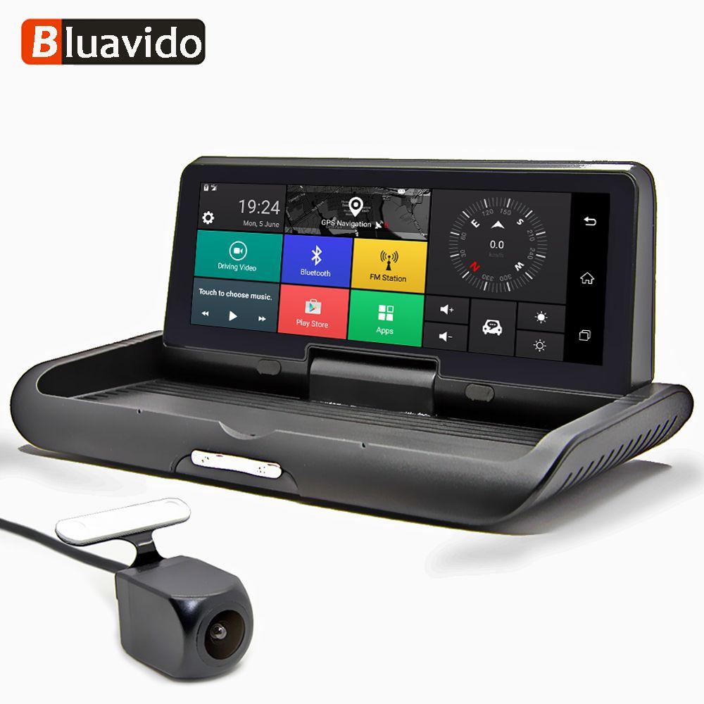 Bluavido 8 zoll 4G Android DVR Full HD 1080 P Auto Kamera GPS Navigator ADAS Dual Objektiv nachtsicht auto Video Recorder Dash Cam