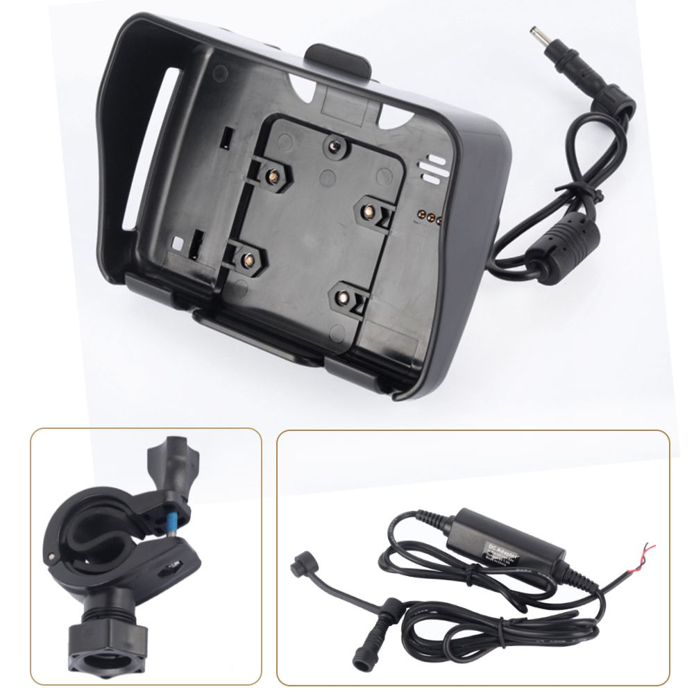 1 Set 4.3 Inch Moto GPS accessories,1 cradle holder+1 power cable+ 1 mount bracket suitable for Fodsports Motorcycle Navigation