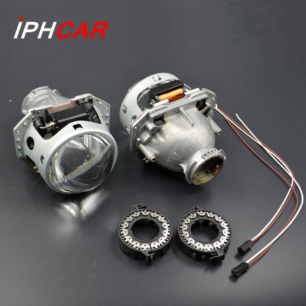 2pcs 3.0 inch hella 5 car Bi xenon Bixenon hid Projector <font><b>lens</b></font> metal holderD1S D2S D3S D4S hid xenon kit headlight car headlight