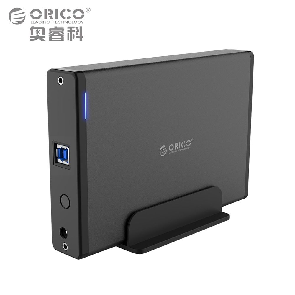 ORICO 3.5 inch Hard Drive HDD Enclosure USB3.0 to SATA3.0 HDD Case Docking Station Support UASP 12V2A Power Aluminum