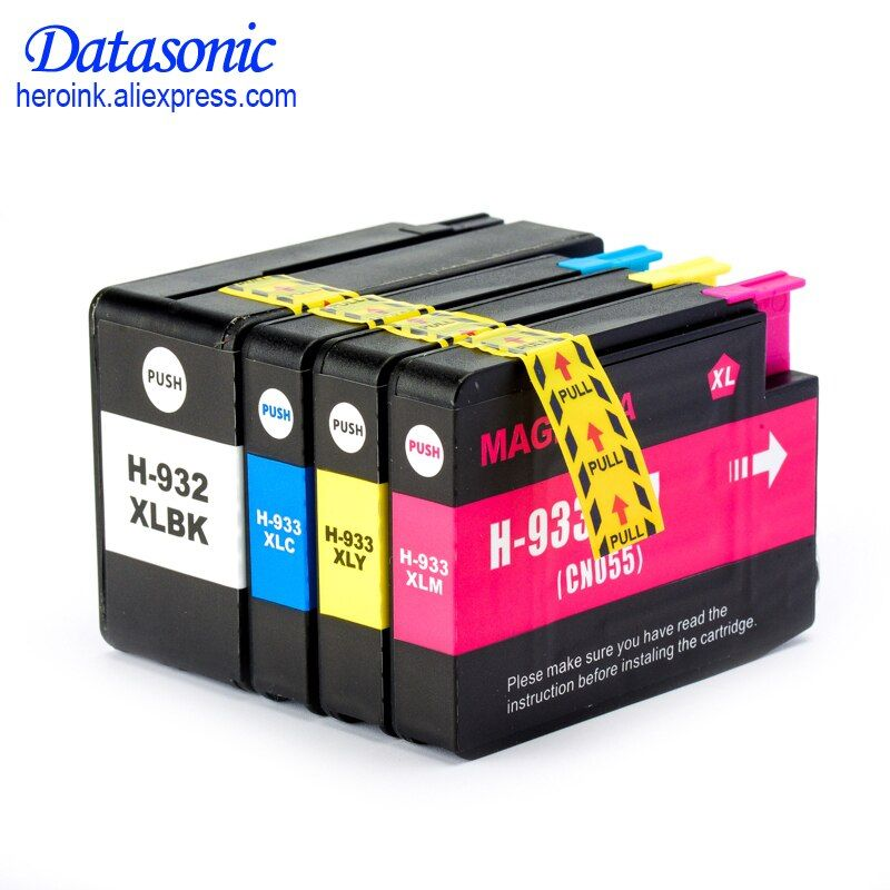DAT 4PK For H P 932 933 932XL 933XL Compatible Ink Cartridge For H P Officejet 6100 6600 6700 7110 7610 7612 7510 7512 Printer