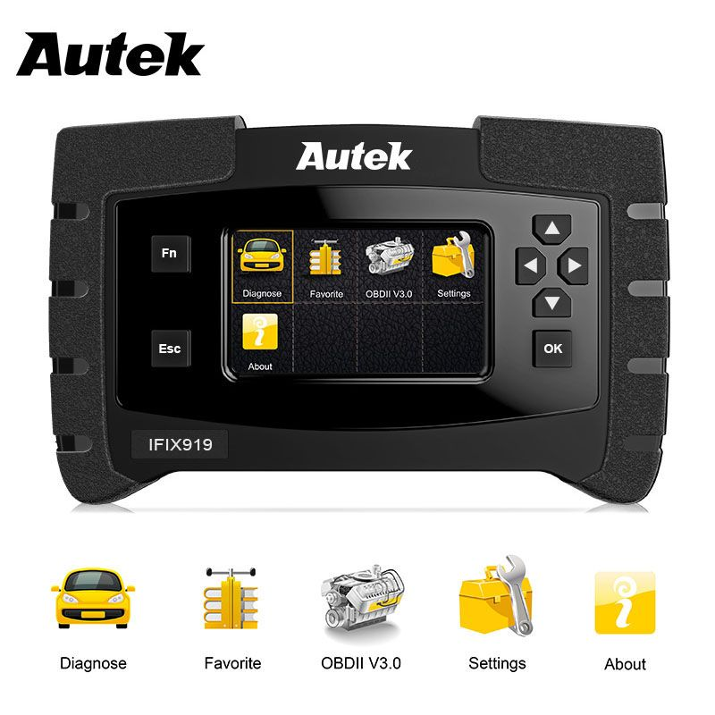 Automotive Scanner Autek IFIX919 Full System Car OBD2 Diagnostic Tool Support ABS Airbag SAS Transmission Oil Service Reset Tool