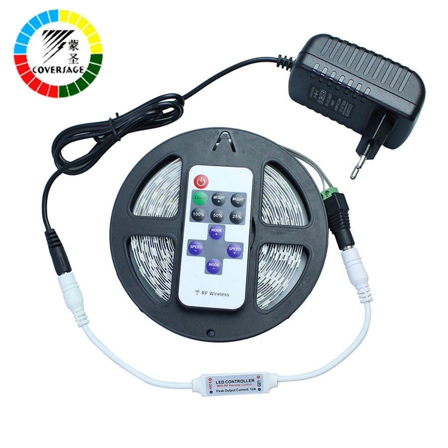 Coversage 5630 Led Strip 5M 300Leds Flexible Waterproof Light Ceiling DC12V 60Leds/M RF Remote Controller Home Decoration Lamp