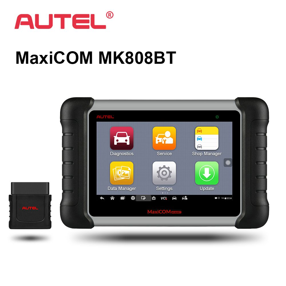 Autel MK808BT Car Diagnostic Tool 7-inch Screen OBD2 Scanner Diagnosis Functions of EPB/IMMO/DPF/SAS/TMPS Better to MX808 MK808