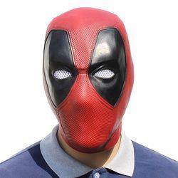 Film Deadpool Cosplay Masker Lateks Penuh Kepala Helm Deadpool Wade Winston Wilson Pesta Kostum Masker Dewasa Lucu Alat Peraga
