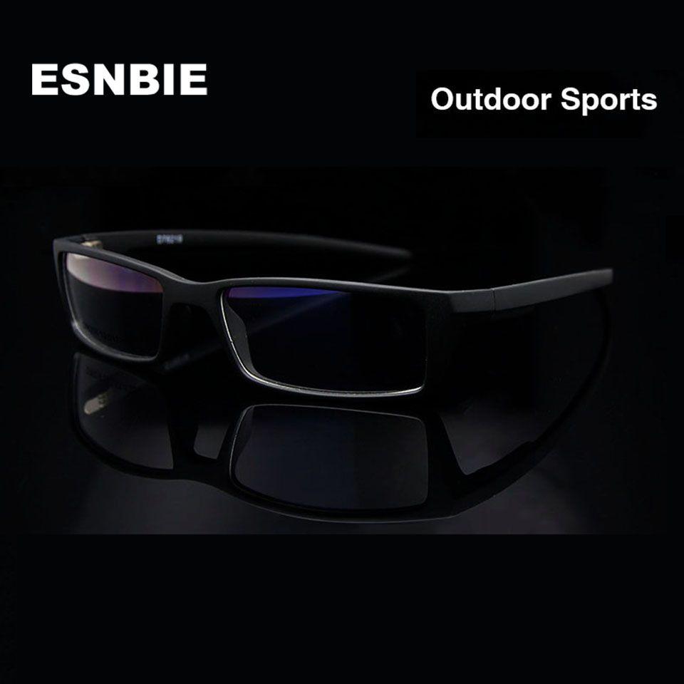 ESNBIE New Eye Montures de Lunettes pour Hommes Lunettes Cadre Noir TR90 Optique Verre Prescription Lunettes Cadre Rx