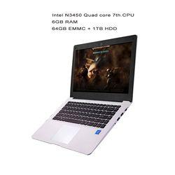 GMOLO 14 pouces ultrabook ordinateurs portables Intel N3450 quad core processeur 6 GB RAM64GB MEM SSD 1 TB HDD HDMI caméra Windows 10 ordinateur portable