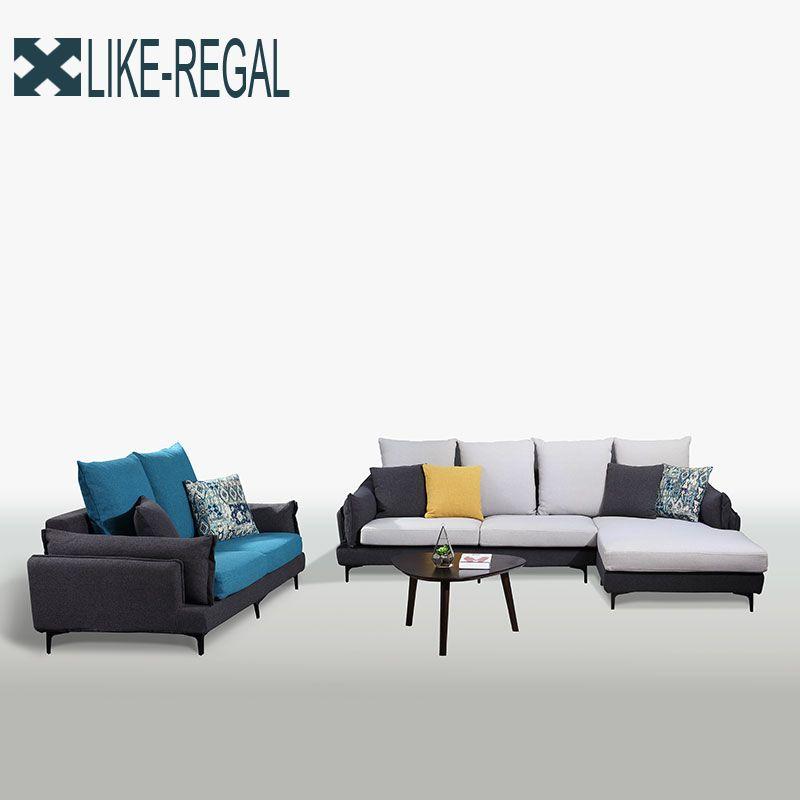 Nordic Einfache Ткань диван Диван большой размер Моющийся диван оптом