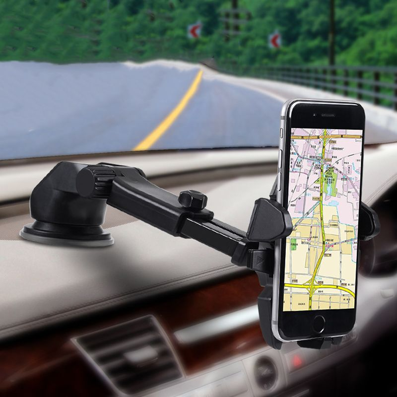 Universal Mobile Car Phone Holder 360 Degree Adjustable Window Windshield Dashboard Holder Stand For iPhone 7 Phone GPS Holders