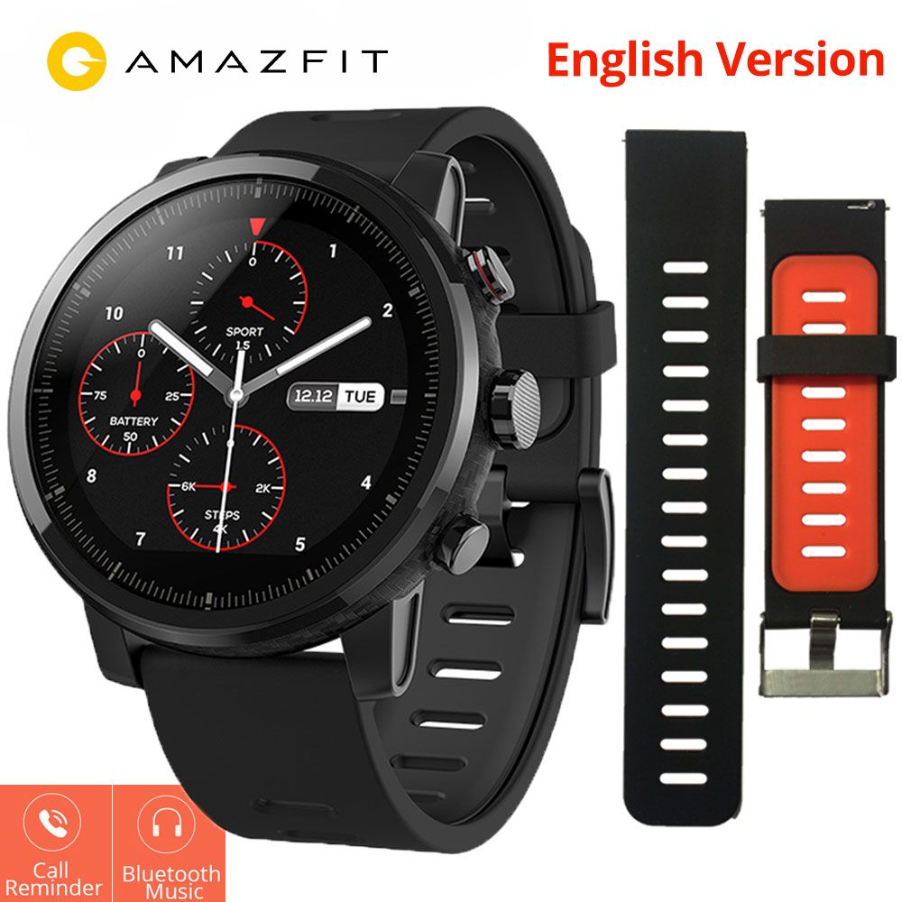Xiaomi Huami Amazfit Stratos 2 Amazfit Pace 2 Smartwatch with GPS PPG Heart Rate Monitor 5ATM Waterproof Sports Smart Watch