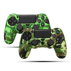 Durable For PS4 Gamepad Decal Camouflage Grip Cover Case Silicone Rubber Soft Skin Protector For Playstation 4 For Dualshock 4