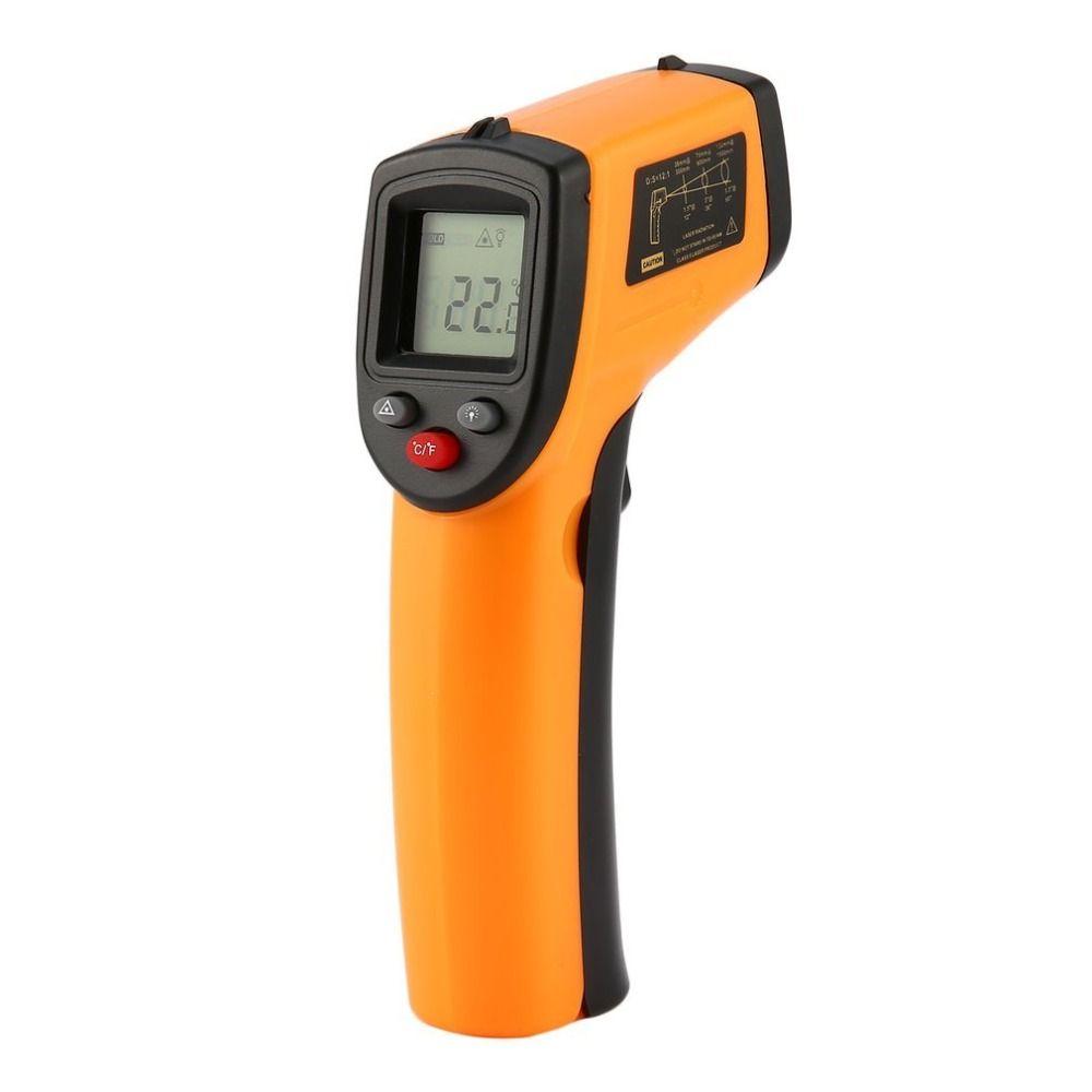 GM320 Laser LCD Numérique IR Infrarouge Thermomètre Température Compteur Gun Point-50 ~ 380 Degrés Sans Contact Thermomètre t20