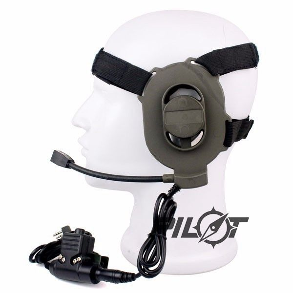 pilotairsoft Z Tactical Bowman Elite II Headset with U94 Style PTT For Walkie Talkie Baofeng UV-5R BF-UVB2 GT-3 UV-8HX TYT Etc