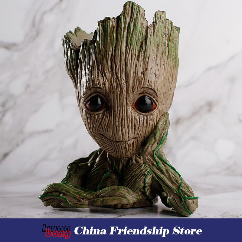 groot Guardians of the Galaxy, Baby Groot , Figure Toys Flowerpot Planter, Tree Man Cute Model Toy Pen Pot Action Figures
