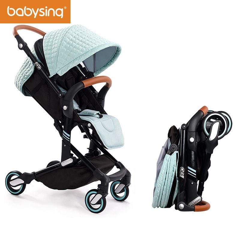 Babysing High Landscape Portable Lightweight Baby Strollers Foldable Baby Pram Pushchairs Kinderwagen I-GO