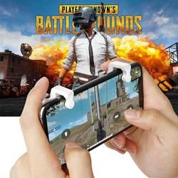 2PCS Pubg Mobile Controller L1R1 Shooter Trigger Fire Button PUBG Game Gamepad Controller For Smart Phone With Stand Function