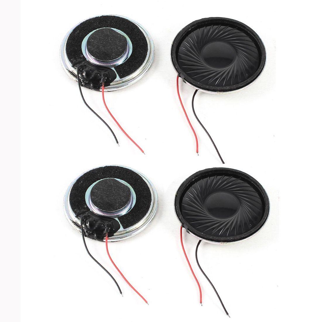 4 Pcs Internal Speakers Magnet 30mm 2800Hz 8Ohm 1W for PC Laptop