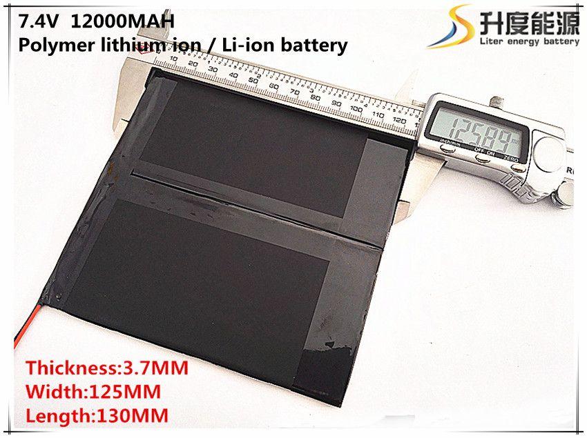 Tablet batterie 7,4 V 12000 mAh 37125130 Lithium-Polymer Li-Po li-ionen-akku zellen Für Mp3 MP4 GPS mobile bluetooth