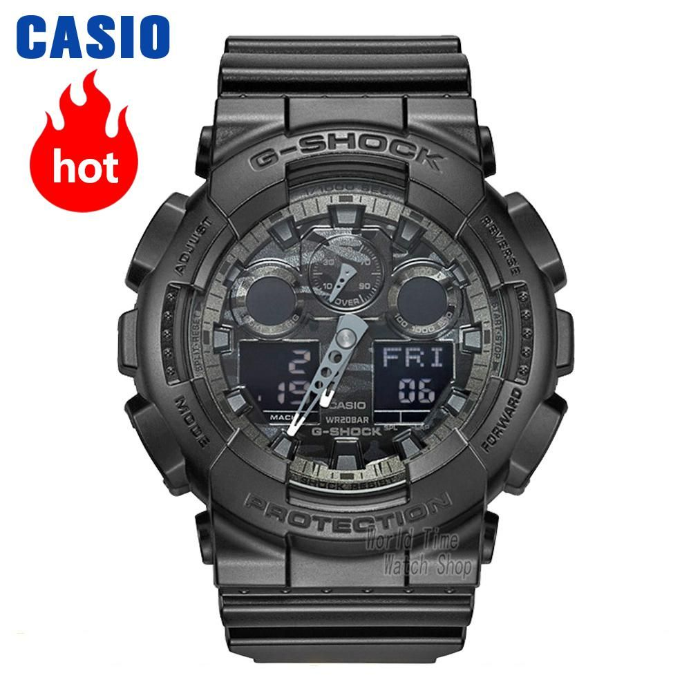 Casio watch Fashion camouflage waterproof resin sports men watch GA-100CF-1A GA-100CF-8A GA-100CB-1A GA-100C-8A GA-100CF-1A9