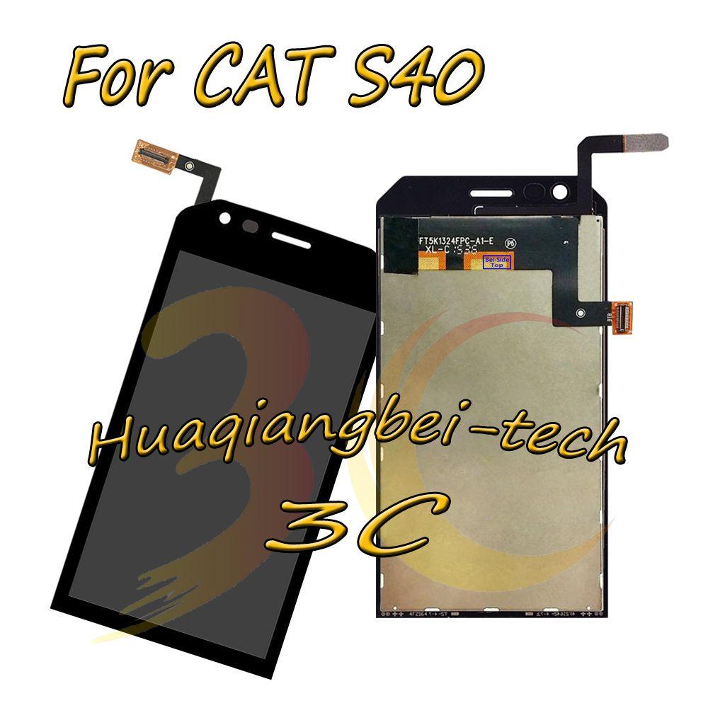 4,7 ''Neue Schwarz Für Caterpillar CAT S40 Volle LCD DIsplay + Touch Screen Digitizer Montage Ersatz Teile 100% Getestet