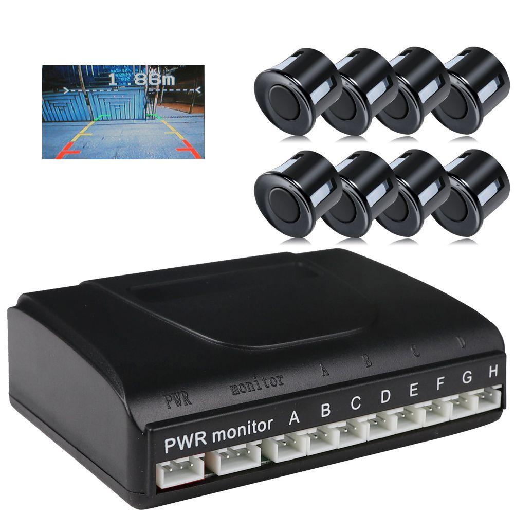 ANSHILONG 8 capteur de stationnement voiture véhicule système de Radar de recul Support caméra de vue avant et arrière