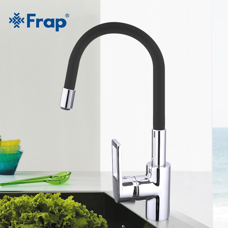 Frap New Arrival 7color Silica Gel Nose Any Direction Rotation Kitchen Faucet Cold and Hot Water Mixer Torneira Cozinha F4253