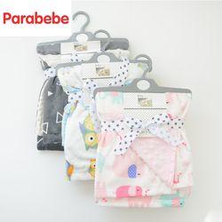 Bayi Baru Lahir Selimut Super Lembut 75 cm * 120 cm Besar Bayi Membedung Ganda Sisi Bayi Wrap Bayi Fleece Newborn selimut Membedung Wrap